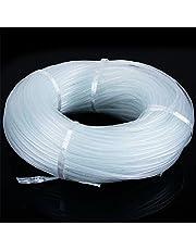imported Soft Plastic Oxygen Pump Bubble Stone Aquarium Fish Tank Hose-Air Tube (White, 10 m/4x6 mm)
