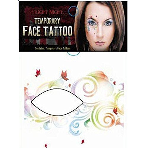 HLHN Halloween Party Temporäre Tattoo Lidschatten Eyeliner Ungiftig Umweltschutz Wasserdichte Makeup Aufkleber(10Pcs)