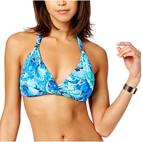Lauren Ralph Lauren Damen Bikinioberteil mit gedrehter Vorderseite, Größe 16, Blau -