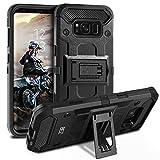 BEZ® Galaxy S8 Hülle, [Heavy Duty Serie] Outdoor Dual Layer Armor Case [Stoßfestes Etui] [Schwarz] Handy Schutzhülle [Shockproof] Robuste Hülle für Samsung Galaxy S8