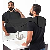 House Of Quirk Beard Apron Hair Catcher For Quick Disposal Of Facial Hair Mess - Black