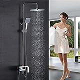 Duschsystem Duschset mit Kopfbrause Duschpaneel,Duschsäule Duscharmatur mit LCD Temperatur-Anzeige