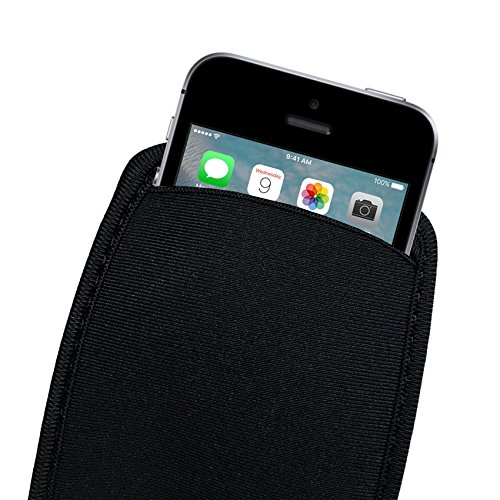 Credo 5 inch Neoprene Protective Phone Case Universal Sleeve Pouch Bags For Apple iPhone SE 5 5S 5C 4 4S  available at amazon for Rs.299