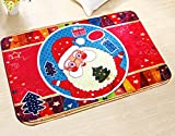 AMDXD Set Flanell Teppiche Santa Claus Design Teppiche für Küche Rot 60x40CM