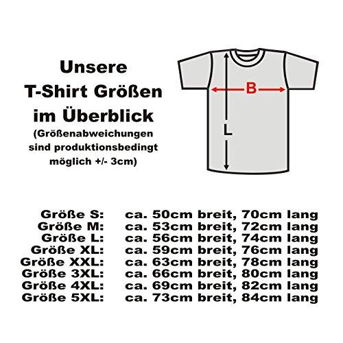 I love beer hochwertiges weißes T-Shirt mit witzigem Druck auf der Brust, Ich liebe BIER Funshirt Klassiker Geschenk große Größen S-5XL (FSL015) Mehrfarbig