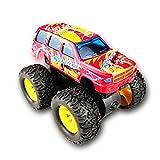 BIYASO Hot Wheels Monster Jam Trucks Rückziehauto für 6-24 Monate, Baby Boy Girl Kid Weihnachten, Geburtstag - rot