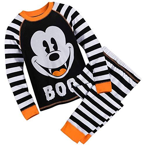 Disney Mickey Mouse Halloween PJ Set for Boys Size 2