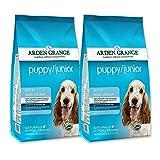 2x 12kg Arden Grange Puppy/Junior Huhn & Reis Hundefutter
