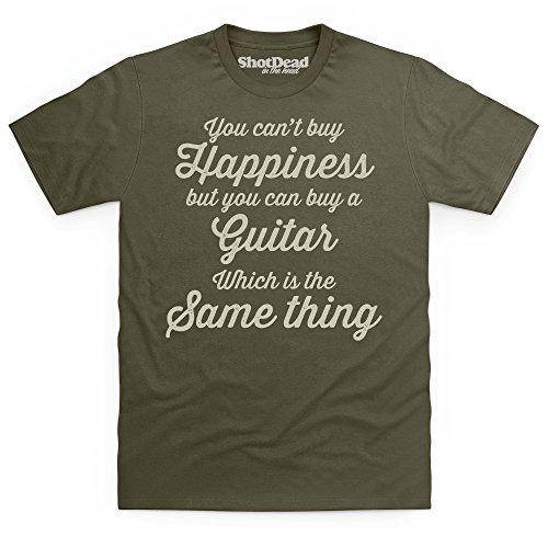 Happiness Is A Guitar T-Shirt, Herren Olivgrn