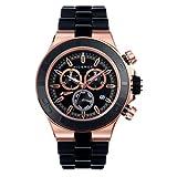 Reloj Viceroy de Hombre. Modelo 47775-97. Esfera redonda de color negro