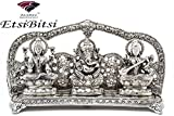 Simi Lakshmi Ganesh (White Metal) Handicraft for Gift, Home Décor, Puja, Pooja
