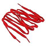 Mr. Lacy Flexies Schnürsenkel - flach - 6 mm breit - in verschiedenen Farben und Längen (110 cm, Red (Rot))