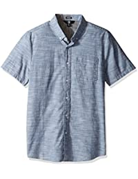 Volcom Camisa de manga corta Everett Oxford, Color: SMOKEY BLUE, Size: XL