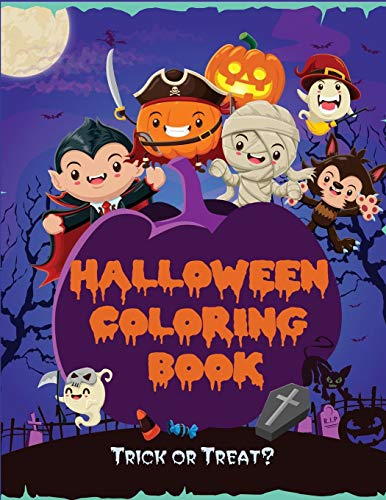 Halloween Coloring Book: Kids Halloween Book, Fun for All Ages (Children's Halloween Books, Band 1)
