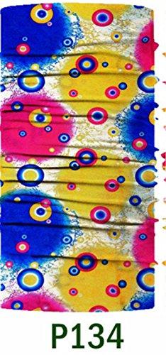 SHINA 12pcs Seamless Sport Bandanas Tube avec des fleurs le multi-usage avec un foulard, masque facial, absorbant l'eau rapide et respirante elastique avec resistance UV set2