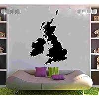 United Kingdom Map Decal Vinyl Wall Sticker Art World Country Silhouette 60cm x 87cm