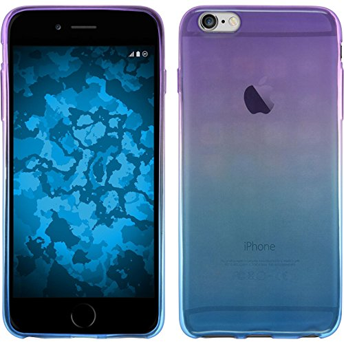 PhoneNatic Case für Apple iPhone 6 Plus / 6s Plus Hülle Silikon Design:06 Ombrè Cover iPhone 6 Plus / 6s Plus Tasche + 2 Schutzfolien Design:04
