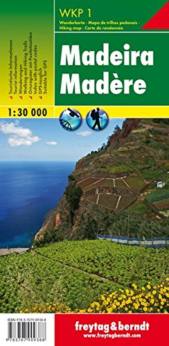 Madeira f&b gps utm (hiking, cycling & leisure) scale: 1/30 por Freytag & Berndt