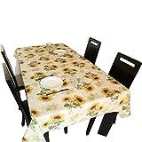Tischdecke - hochwertiges Tuch + PVC wasserdichtes Anti-Öl-Tischtuch ,sauberes Tischtuch Hitzebeständiges Abwasser für das Familienhotel Restaurant Cafes Pastoral Tisch (eine Vielzahl von Stilen)(200 x 137 )cm, (Sonnenblume008)