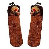 Weihnachten Baumwolle Socken, Quaan Komisch Handtuch Kurz Karikatur Dick Socken fünf Finger Gedruckt Beiläufig Niedlich Knöchel weich gemütlich Licht elastisch Deodorant Anti Unterhose Schlafsocken
