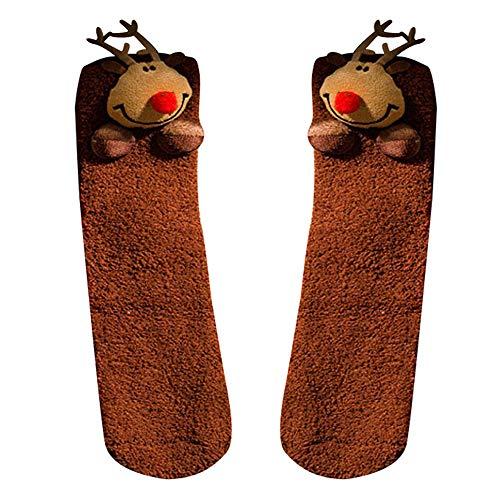 Huhu833 Baby Socken, Mädchen Jungen Baby Weihnachten Print Floral Handtuch Acryl Warme Kurze Cartoon Dicke Socken (E) (Floral Print Handtücher)