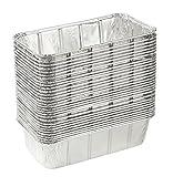 juvale Aluminium Folie Pfannen–30rechteckig Einweg Pfannen für Backen, Rösten, broiling, und Kochen Kuchen, Brote, Brot, Lasagne, 21,6x 6,3x 11,4cm