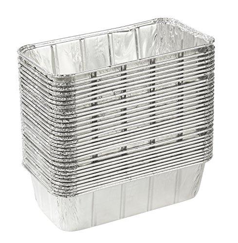Backform Tiefe Rechteckige (juvale Aluminium Folie Pfannen–30rechteckig Einweg Pfannen für Backen, Rösten, broiling, und Kochen Kuchen, Brote, Brot, Lasagne, 21,6x 6,3x 11,4cm)