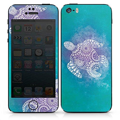 Apple iPhone 6 Case Skin Sticker aus Vinyl-Folie Aufkleber Mandala Turtle Schildkröte Muster DesignSkins® glänzend