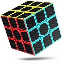 cfmour Cubo de Velocidad, 3x3x3 Fibra de Carbono Suave Magia Cubo de Rubik Rompecabezas 3D Cube, Versión Mejorada, 5.7cm (Negro) - Peluches y Puzzles precios baratos