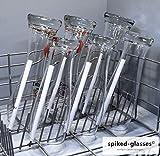 Glashalter für Spülmaschine - Bierfreunde 6er Set - Lange Aufsteckhalter Halterung für Geschirrkorb Glas Gläser