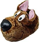 Hombre Niños Scooby Doo Perro Zapatillas Divertido sin Cordones Regalo - Marron, 42 (UK 8)