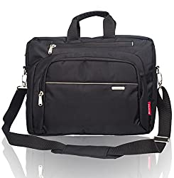 Cosmus Nylon 9Litres Black & Grey Laptop Bag