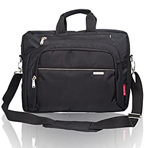 Cosmus Wisdom Nylon 9Litres Black & Grey Laptop Bag