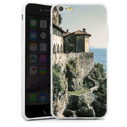 Apple iPhone X Silikon Hülle Case Schutzhülle Küstenlandschaft Festung Meer Silikon Case weiß