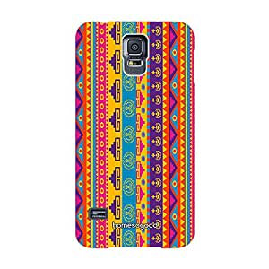 HomeSoGood Unique Abstract Design Multicolor Case For Samsung S5 ( Back Cover)