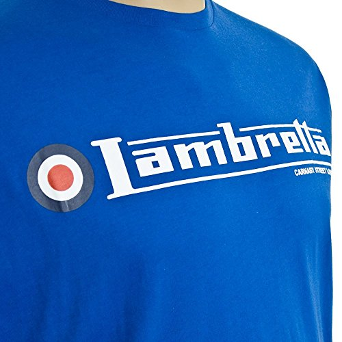 Lambretta Kingsize Flag Logo T-Shirt Royal Royal