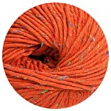 100 gr. Montego Tweed Fb. 405 orange, m. Merino, Linie 55, Online,