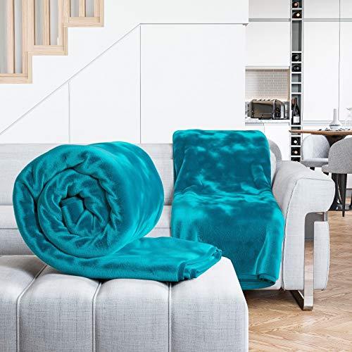 Lamour Luxus Webpelz Überwurf Sofa Bett Nerz Weich Warm Decke, blaugrün, King Size (King-size-decke Warme)