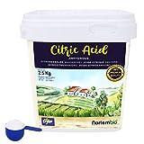 Nortembio Acido Citrico 2,5 kg. Polvere Anidro, 100% Puro. per Produzione Biologica. E-Book Incluso.