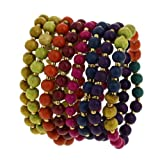 Colorful Bead String Cluster Costume Bracelet Fashion Jewellery Indian
