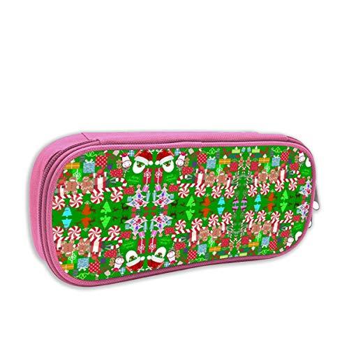 Helen vi Federmäppchen für Kinder mädchen,Sankt Einhorn-Lebkuchen-Süßigkeit Train_5171, Rosa