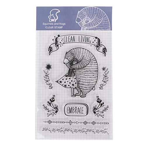 ECMQS Süß DIY Transparente Briefmarke, Silikon Stempel Set, Clear Stamps, Schneiden Schablonen, Bastelei Scrapbooking-Werkzeug