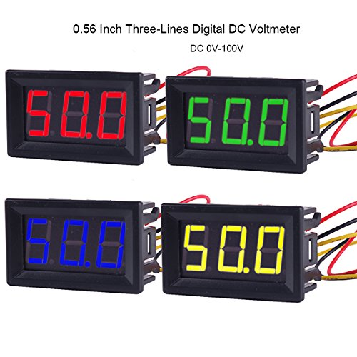 PIXNOR Mini Volt/ímetro Digital de LED para Coche Moto DC 24V
