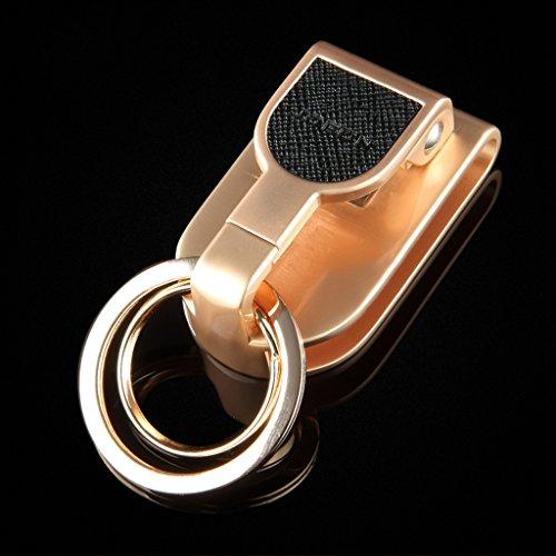 Cs Porter Ceinture Porte-clés Taille Masculine Suspendus Automobile Bouton clé en Alliage de Zinc Double Anneau Design