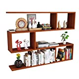 Massivholz Wandrahmen Holz Wand-Racks Wand Rack Wohnzimmer Massivholz-Partition Gitter Multi-Layer-Bücherregal, 3 Größen (Size : 80x15x75cm)