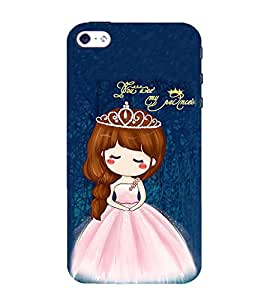 99Sublimation Princess Girl 3D Hard Polycarbonate Back Case Cover for Apple iPhone 5