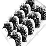 SMILEQ® 3D Wimpern Imitat Nerz Natürliche Dicke Falsche Wimpern 5 Paar (5 Paare, L)
