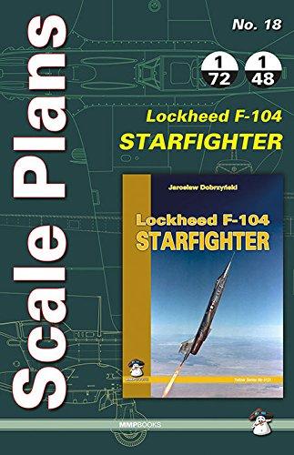 Scale Plans Lockheed Starfighter F-104 (Flugzeug Modell Kit Paint)
