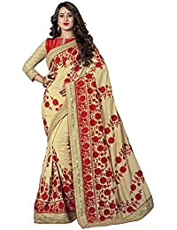 Soru Fashion Embroidered, Self Design, Solid Fashion Cotton Silk, Pure Silk Saree (Beige)