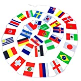 Minkoll Football World Cup 32 Teams String Flag 20x30 cm,Decoration for Sports Club, Bar, Grand Opening String Pennants Party